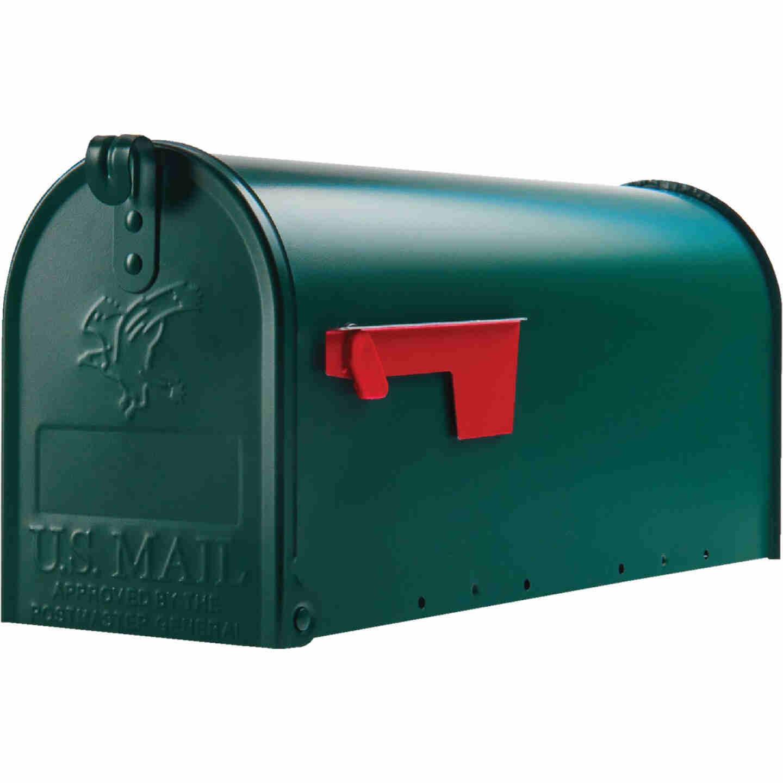 Gibraltar Elite T1 Green Steel Rural Post Mount Mailbox Image 2