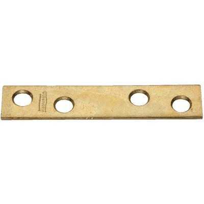 National Catalog 118 3 In. x 5/8 In. Brass Steel Mending Brace (4-Count)