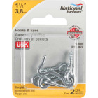 National 1-1/2 In. Steel Hook & Eye Bolt (2 Ct.) Image 2