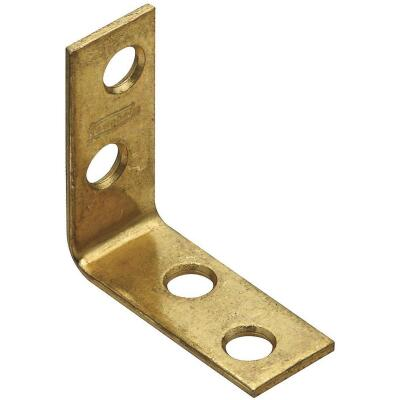 National Catalog V115 1-1/2 In. x 5/8 In. Brass Steel Corner Brace (4-Count)