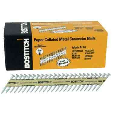 Bostitch 35 Degree Paper Tape Hot-Dipped Galvanized MCN Connector Nail, 1-1/2 In. x .131 In. (1000 Ct.)