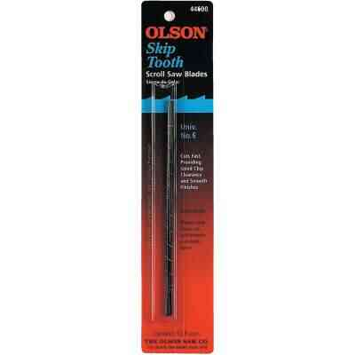 Olson 11TPI Skip Tooth Plain End Scroll Saw Blade (12 Count)