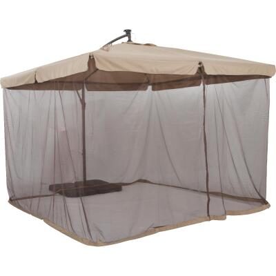 Outdoor Expressions 10 Ft. Gazebo Offset Tan Patio Umbrella