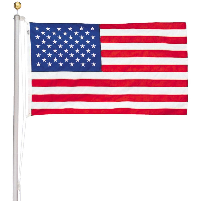 Valley Forge 3 Ft. x 5 Ft. Nylon American Flag & 20 Ft. Pole Kit Image 1